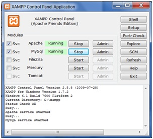 Image result for gambar tampilan xampp